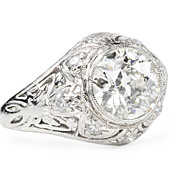 Divine 1.45 ct. Art Deco Diamond Ring