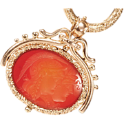 Edwardian Carnelian Spinner Fob Pendant