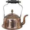 Charming Small 19th Century English Copper Kettle with Ebony Turned Handle