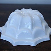 SALE English Cream Earthenware Jelly Mould, Mold