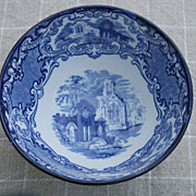 SALE George Jones Blue & White English Transferware &quot;Abbey&quot; Bowl