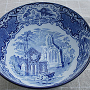 An English Transferware Blue & White Bowl by George Jones