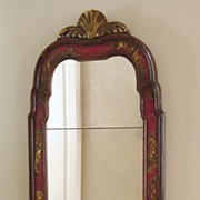 SALE Elegant Antique English Chinoiserie Looking Glass, Mirror