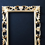 Vintage Italian Rectangular Gilt Frame, Italian
