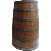 SALE Antique English Coopered Barrel