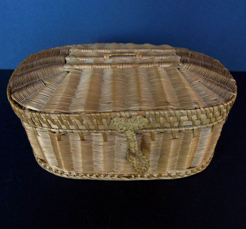 Wonderful Antique French Sewing Basket, Jewelry Box