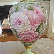 Gorgeous American Belleek Hand Painted    Vase ~Pink Roses~