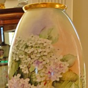 SOLD Gorgeous Hand Painted American Willets  Belleek vase ~Lilacs~ - Red Tag Sale Item
