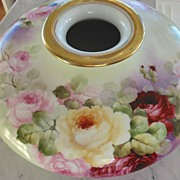 Antique Hand Painted Austrian - Austria Porcelain~ Huge ~Squat Vase~Rose Bowl~ France Studios
