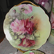 Antique Limoges France Hand Painted Tray Spectacular ~Roses~