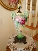 Magnificent Antique American Belleek Porcelain Vase - Lamp - ~Roses~