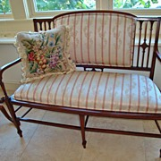 Fantastic Antique 3 Piece Hepplewhite Settee with inlay 19th Century
