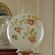 SOLD Antique Limoges France Hand Painted Victorian Banquet Lamp Gone with the Wind Parlor Lamp