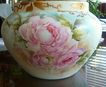 Limoges France Hand Painted Porcelain Jardiniere ~Roses~