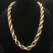 Vintage Coro Pegasus Heavy Chunky Chain Link Necklace 1950s