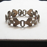 SOLD Vintage Modernist Kreisler Copper and Metal Link Bracelet 1950s