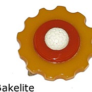 Vintage Bakelite Three Color Clip