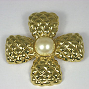 Vintage Monet Maltese Cross Brooch Pin