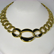 Vintage Napier Link and Enamel Necklace