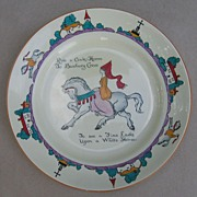 Nursery Rhyme Plate, A & S, Arcadian China, Stroke-on-Trent, 1904-1924