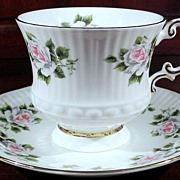 Elizabethan, Rose Bone China Teacup and Saucer