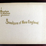 Boston and Maine Railroad Seashore of New England Photo Souvenir Book, c. 1900