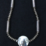SALE PENDING Big Howling Coyote Necklace by Jeraldine Thompson