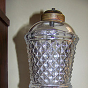 Excellent C 1840 Sandwich Glass Whale Oil Lamp