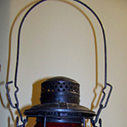 Early Canadian National Railroad Adlake Lantern Red GLobe
