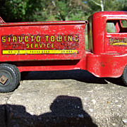 Vintage 1940's Structo Red Tow Truck Model 910 Complete