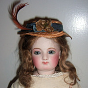 "21"" French Fashion Doll - Incredible Face!! Antique Dress/Boots!"