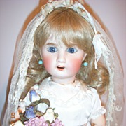 "SALE RARE 16"" Limoges Antique Bride Doll - layaway!"