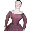 RARE 19&quot; Early FRENCH Mache Fashion Doll w/Original Body & Dress Circa 1840