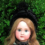 "Steiner 23"" Antique Doll A-17 in Incredible Antique Dress - Layaway"