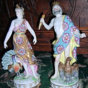 SALE RARE Eugene Max Clauss Pair of Figurines