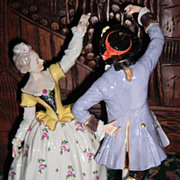 Romantic Dresden Figurine 10&quot; Tall - Volkstedt Layaway!