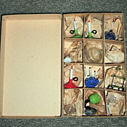 Outstanding Antique Miniature Hand Blow Glassware in Original Box