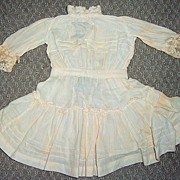 "11 1/2"" Long Antique Cotton Doll Dress"