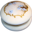 Unique Limoges Porcelain Pin box 2 �� w Hand Painted with Blue Flowers ~ Bawo & Dotter Elite Limoges France 1896-1900