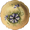Attractive Austrian Porcelain Bowl ~ Hand Painted with Purple Clematis ~ Artist Signed �Jos Lycett�~ Oscar & edger Gutherz