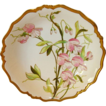 Exquisite Large Limoges Porcelain Serving Bowl ~ Hand Painted with Pink & Purple Sweet Peas ~ Blakeman & Henderson (B&H) Limoges France Early 1900s