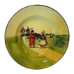 Nice Old German Plate With Dutch Scene Boy and Girl with Sailboat ~ ZELL United Ceramic Factories - Georg Schmider (Germany) - ca 1907 � 1928