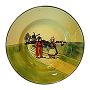 SALE Nice Old German Plate With Dutch Scene Boy and Girl with Sailboat ~ ZELL ...
