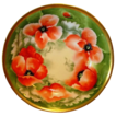 "BEAUTIFUL Limoges Porcelain Master Serving Bowl ~ Hand Painted with Orange & White Poppies ~ Artist Signed ""Alice"" ~ MAVALEIX / George Borgfeldt CORONET Limoges France1908-1914"