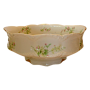 SALE Wonderful Limoges Porcelain Master Serving Bowl ~ Pink & Yellow Flowers ~ Theodore Havila