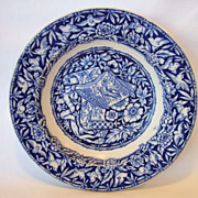 SALE Beautiful English Bowl ~ Blue and White Birds and Scrolls ~ George Jones & Sons England 1