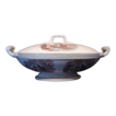Wonderful Old English Copeland Ironstone Covered Dish with Brown Transfers of Farming Scenes ~ W T Copeland ~ England 1850-1867