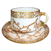Attractive 127 Yr Old English Porcelain Cup & Saucer ~ Thorn pattern ~ Edwin James Drew Bodley Burslem England 2/ /1883