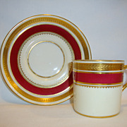 SALE Regal English Demitasse Cup and Saucer ~ English Bone China ~ Embossed Laurel Band ~ Rege