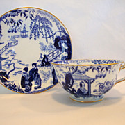 SALE Beautiful English China Cup & Saucer ~ Blue and White ~ Blue Mikado (designed by Thomas A